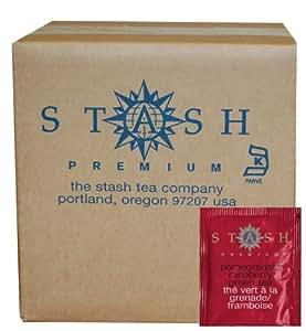 Stash Tea Pomegranate Raspberry Green Tea, 100 Count Box of Tea Bags in Foil FlavorName: Pomegranate Raspberry Green with Matcha