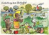 Janosch Postkarte Einladung zum Gartenfest