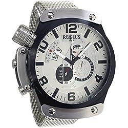 XXL 51mm Maxi.Size Chronograph watch Rebosus RS014MIL