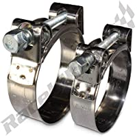 39mm W1 Zinc Plated Mild Steel T-Bolt Hose Clamps 2 x 36mm AutoSiliconeHoses