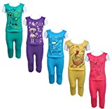 #7: Eazy Trendz Printed Half Sleeve Top & Bottom Tshirt And Pant For Baby Girls -Set Of 5 (2 -3 Years_Multi_2)
