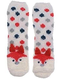 2 Stück Damen Kuschelsocken Hausschuhe Wintersocken Eule Kaninchen Form