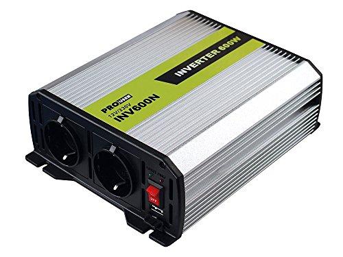 Preisvergleich Produktbild Pro User 16592 Spannungswandler 600 W, 12 auf 230 V, mit 2 Steckdosen
