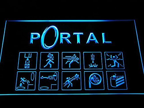 Portal Game Logo LED Neon Light Sign Man Cave E068-B by LEaD Sign