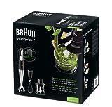 Braun Multiquick MultiQuick 7 MQ 725 Omelette Stabmixer, 750 W, Edelstahl-Schneebesen, EasyClick System, PowerBell Technologie