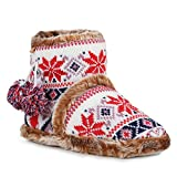 Damen Hausschuhe Gefütterte Pantoffeln Norweger Look Schupfschuhe 158258 Weiss 37 Flandell