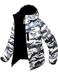 97ba34e1e9b0 Southplay Herren Camouflage mit Kapuze wasserdichte Winter  Snowboard-Elfenbein