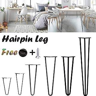 Tischbeine mit Befestigungsschrauben und Schutzfüßen, strapazierfähig, verschiedene Farben, Stange und Höhe, 4 Stück
