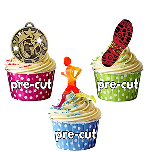 rty Pack, 36 Cup Cake Toppers - Edible Stand Up Decorations by AKGifts ()