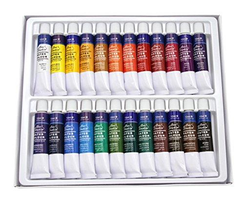 Aquarell Farbset mit 24 Tuben je 12ml / 24 Farben, original Magi Qualität feine Künstlerqualität, Wasserfarbe Water Colour