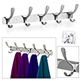 #8: TOTAL HOME :10 Hooks Stainless Steel Coat Robe Hat Clothes Wall Mount Hook Hanger Towel Rack