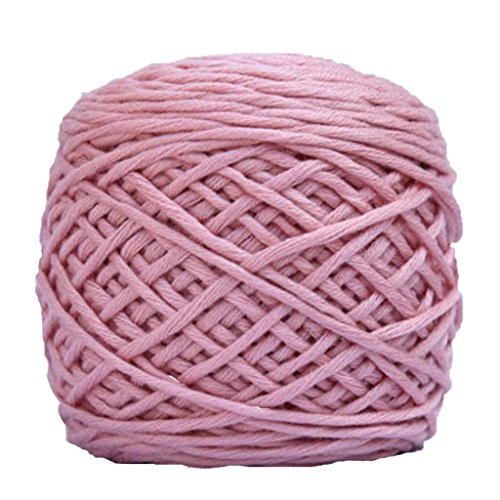 Xshaui 170 gramm Kammgarn Super Weich warme Glatte Naturseide Wolle Garn Stricken Pullover Strickgarn (Rosa) (Kammgarn Garn Stricken)