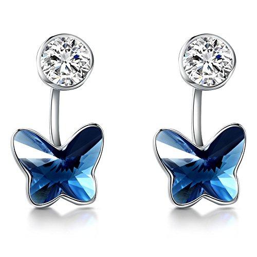 T400Juweliere Ohrringe Schmetterling mit Swarovski-Kristallen Love Geschenk (Womens Kollektion 2008)