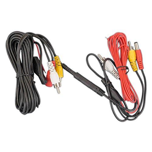 Carmedien 5 Meter Rückfahr-Kamera Anschlusskabel 5m trennbar mit Mini-Stecker Cinch Verbindungskabel (RCA Audio Video) mit 12V/24V Steuerleitung - Cinch-video-verbindungskabel