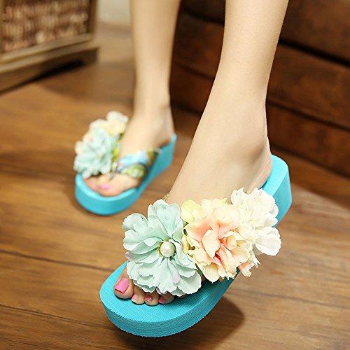 Estate Sandali 4.5 cm Flip flop femminile di nuovo modo di estate (verde / blu / bianco / giallo) Colore / formato facoltativo Giallo
