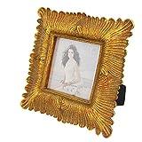 Giftgarden Bilderrahmen Gold Vintage quadratisch klein antik Barock Fotorahmen Shabby chic 10x10 Rahmen Hochzeit Family Geschenk für Freund