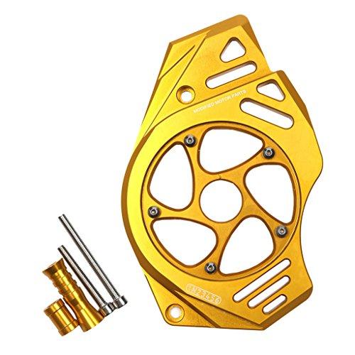 Preisvergleich Produktbild non-brand MagiDeal 1 Set CNC vorne Kettenblattschutz Kettenschutzabdeckung Motorschutz Für Kawasaki Er6n Er4f - Gold