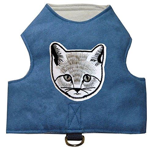 Katzengeschirr mit Katzenapplikation einstellbar easy walk in diversen Farben Größe S - L (Small)