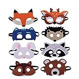 Tiermasken Filz Tier Masks Maske Bauernhof-Tiere 8 Stück Ideal zum Kindergeburtstag und Karneval
