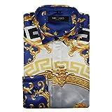 MAYUAN520 Camicie da Uomo Maglietta a Maniche Lunghe_Mens Moda Tempo Libero Shirt Stili di Ricamo,15,m Abbigliamento