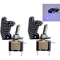 12V 35A Fahrzeug Auto Boot Nebelscheinwerfer LED-Wippschalter Ein-Aus Dash 2X 2X