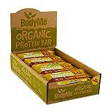 BodyMe Organic Vegan Protein Bar | Raw Maca Cinnamon | Box of 12 x 60g (2.12oz) | with 3 Plant Proteins