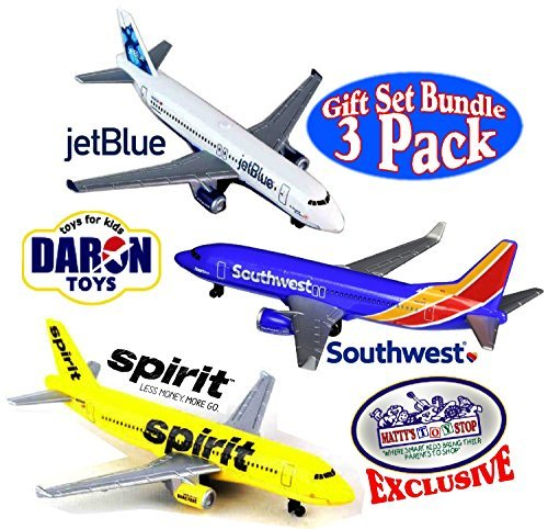 daron-southwest-jetblue-spirit-airlines-die-cast-planes-mattys-toy-stop-exclusive-gift-set-bundle-by