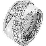JETTE Silver Damen-Ring 925er Silber Zirkonia (silber)