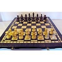 ChessEbook-Schachspiel-Dame-Backgammon-52-x-52-cm-Holz