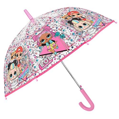 Paraguas Transparente LOL Surprise Niña