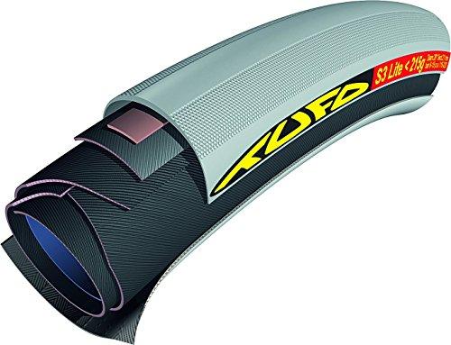 "Tufo S3 Lite 215 Cubierta Tubular, Gris/Negro, 21mm 28"""
