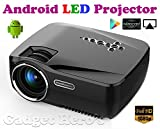 Gadget Hero's SimpleBeamer GP70UP Android WiFi Bluetooth Projector, Support Full HD 1080P, Multimedia Mini Pro Portable LED Projector For Home Theater Movie Video Games