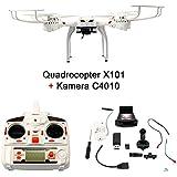 Fun tomia cuadricóptero MJX X101RC dron WiFi de 6Axis Gyro Quad Copter Real Time 2.4GHz. cuadricóptero MJX X101con cámara y sin cámara, o Solo Una Cámara FPV C4010individualmente Selección (según EN LA varinate)