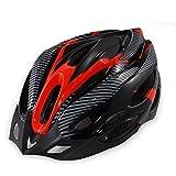 soccik Casco da bicicletta casco adulto casco adulto casco fuoristrada specializzato per Heren Donna protezione di sicurezza testa cappuccio rosso e nero