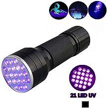 Vicloon Torcia UV LED Lampada, 21 Leds Blacklight Elettrici,Cane/Gatto Smacchiatore