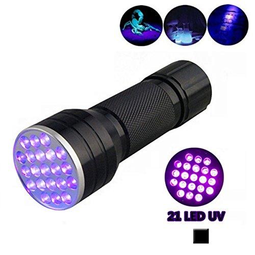 Vicloon Ultraviolett LED UV Taschenlampe, Schwarzlichtlampe mit 21 LEDs 395nm, Fleckendetektor / Urindetektor für Haustiere