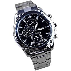 Tonsee Business About Men Stainless Steel Band Machinery Sport Quartz Watch