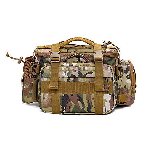 DHFJKK Sac de Taille Tactique, Ceinture Militaire multifonctionnelle imperméable pour Hommes et Femmes Loisirs Fanny Pack Bumbags pour la randonnée