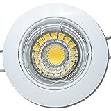 2 Stück MCOB LED Einbauleuchte Linus 230 Volt 7 Watt Schwenkbar Weiß/Warmweiß