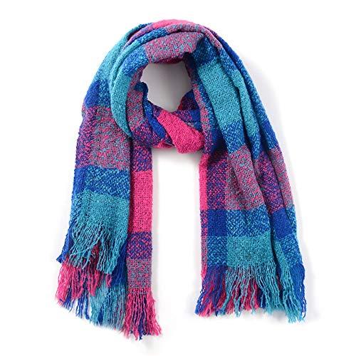 ZYMJZ Schal-Winter-warme Frauen-starke Quasten-langer Kaschmir-Jacquard-Schal, Farbe 12.200 * 60Cm