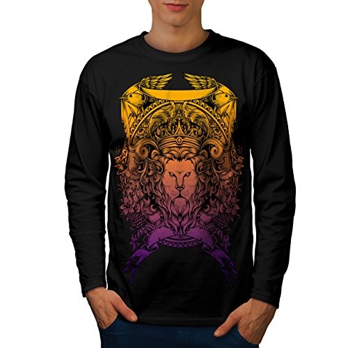 King Animal Lion Face Mad Men M Langarm T-Shirt | Wellcoda (Mad Men-anzug)