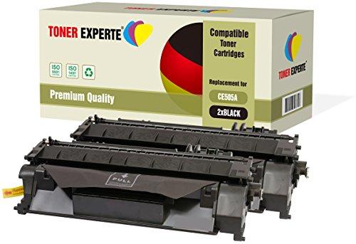 2er-Pack TONER EXPERTE® Premium Toner kompatibel zu CE505A 05A für HP Laserjet P2033 P2034 P2035 P2036 P2037 P2050 P2054 P2055 P2055d P2055dn P2055x Canon i-SENSYS LBP-6300dn LBP-6680x MF-6140dn -