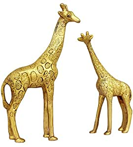 ... ITOS365 Show Pieces For Living Room Brass Giraffe Statue In Pair  Showpiece Home Part 14