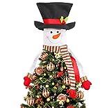 Xunlong Puntale per Albero di Natale, Pupazzo di Neve Top of The Tree Hugger for Xmas Holiday Winter Wonderland Decorazione