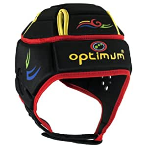 Optimum Men's Hedweb Classic Tribal Protective Headguard - Black/Red (Multi), Small