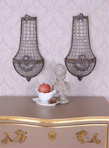 PALAZZO INT Zwei WANDAPPLIKEN LAMPEN Shabby Frankreich Paar WANDLÜSTER ANTIK