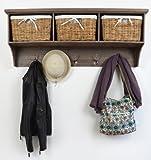 Tetbury Acacia Coat Hanger with 3 Baskets