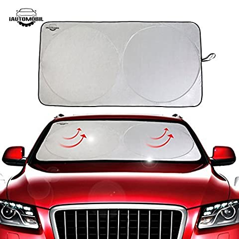 iAutomobil Windschutzscheibe für Auto - Sonnenschutz 150cm x 80 cm, zweifarbige, Front