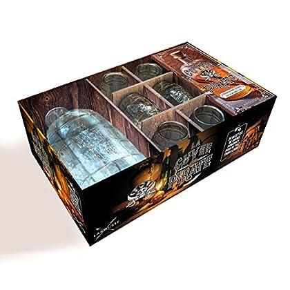 Coffret La cuvée du pirate : Contient : 1 bouteille en verre de 1,5L, 6 shooters en verre