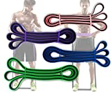 Physix Gear Pull Up Assist Bands - Best Heavy Duty Resistance Band for Assisted Pullups, Muscle Toning, Legs Glutes Crossfit Physical Therapy Stretch Pilates & Yoga - Improve Mobility & Strength -4SET - 4